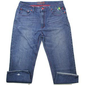 Coogi Mens Jeans Embroidered Dragon All Seeing Eye